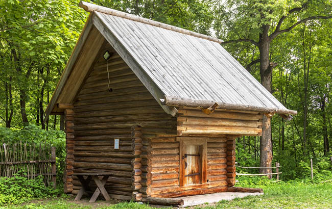 Нижний Новгород. Щёлоковский хутор. Groshevas barn in the Museum of Wooden Architecture Shchelokovsky Farm. Nizhny Novgorod. Фото Belikart-Deposit