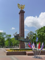 Новороссийск. The Obelisk Novorossiysk Republic in honor of the events of the first Russian revolution of 1905 in Novorossiysk. Фото Garmashevanatali-Deposit
