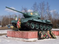 Россия. Город-герой Смоленск. Monument to the Russian T-34 tank. Vyazma, Russia. Фото potatushkina.gmail.com - Depositphotos