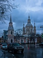 Россия. Санкт-Петербург. Андреевский собор. Bolshoy Prospekt of Vasilevsky Island with the Saint Andrew's Cathedral. St. Petersburg. Russia. Фото avstraliavasin-Deposi