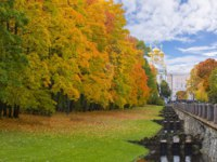 Санкт-Петербург. Царское село (Пушкин). Екатерининский парк. Golden fall (mellow autumn) in Catherine park, Pushkin, Saint Petersburg. Фото mistervlad-Deposit