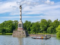 Пушкин. Екатерининский парк. Чесменская колонна. Chesme Column on the island of Grand Pond in Catherine park, Tsarskoe Selo, St. Petersburg. Фото mistervlad-Dep