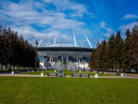 Stadium Gazprom Arena where the matches of the FIFA World Cup 2018 and European Football Championship 2020 will be held. St.Petersburg. Фото qwer230586-D