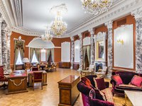 Россия. Санкт-Петербург. Интерьер Талион Империал отеля. Taleon Imperial Hotel St. Petersburg. Empress Suite Living Room