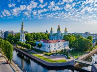 Россия. Санкт-Петербург. Крюков канал. Nicholas Naval Cathedral on the Kryukov channel. Saint Petersburg. Russia. Фото GrinPhoto - Depositphotos