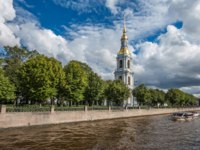 Россия. Санкт-Петербург. Крюков канал. Kryukov canal, bell tower of St. Nicholas Naval Cathedral, St. Petersburg. Russia. Фото javarman - Depositphotos