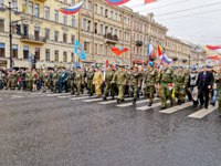 Россия. Санкт-Петербург. Демонстрация на Невском проспекте. May 9-Victory Day. St. Petersburg. Veterans of the Afghan war.  Фото lezin.konstantin-Deposit
