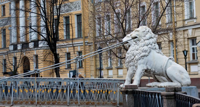 Россия. Санкт-Петербург. Львиный мостик на канале Грибоедова. The Lion's Bridge through Griboyedov Canal. St.Petersburg. Фото aleksis15@yandex.ru. Deposit