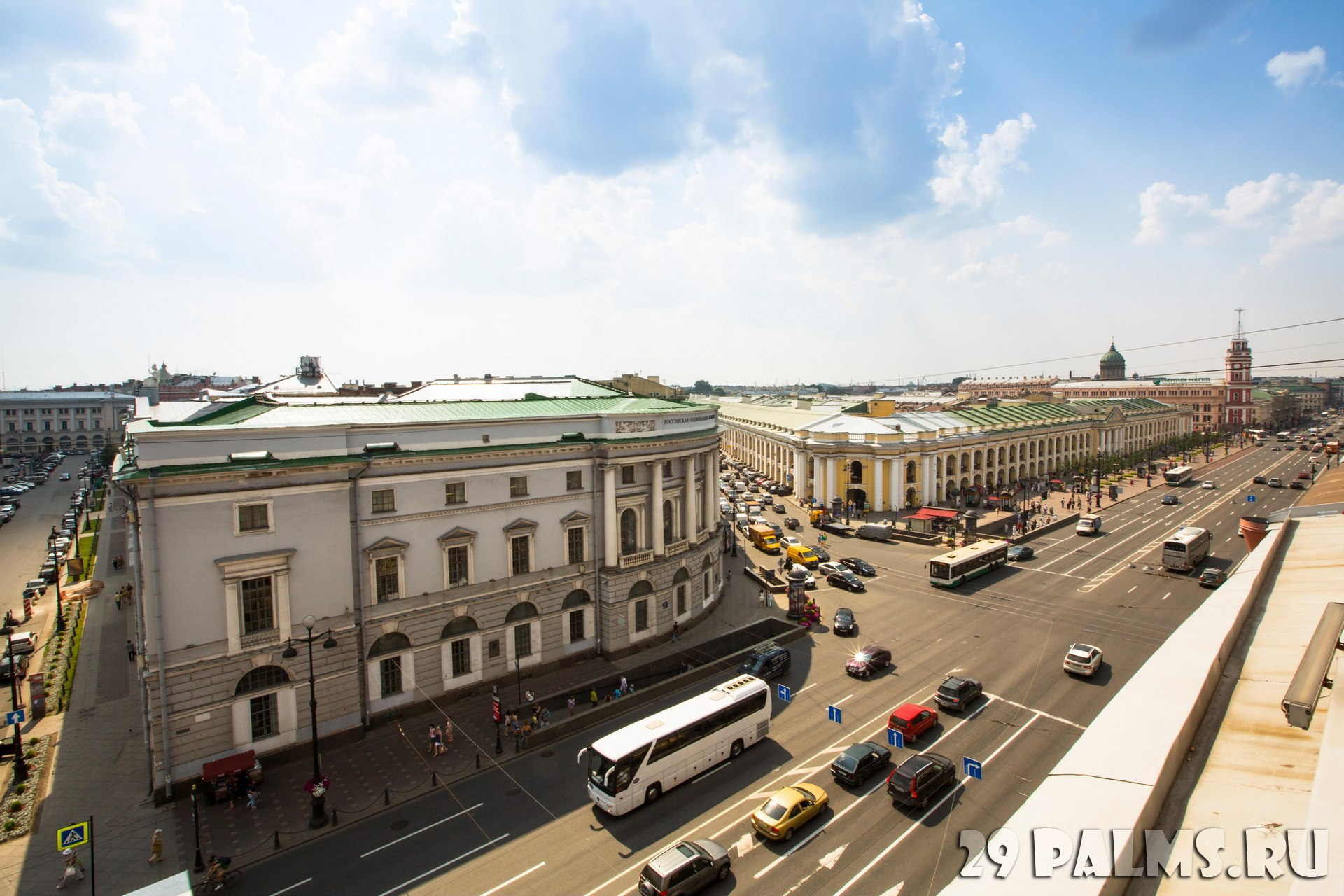 Санкт-Петербург.Top view of the Metro and mall Gostiny Dvor on Nevsky Prospect, SPb, Russia. Station opened on 1967, is one of busiest stations in the entire SPb Metro