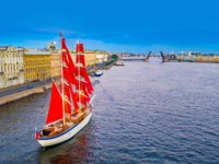 Россия. Санкт-Петербург. Праздник Алые паруса. The city of St. Petersburg. Scarlet Sails. White Nights in St. Petersburg. Russia. Фото GrinPhoto - Depositphotos