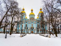 Россия. Санкт-Петербург. Никольский морской собор. The St. Nicholas Naval Cathedral. St. Petersburg, Russia. Фото ElenaOdareeva - Depositphotos