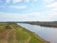 Россия. Ленинградская область. Старая Ладога. Volkhov river valley with Burial mound. Russia, Staraya Ladoga. Фото LehaKoK - Depositphotos