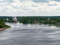 Россия. Ленинградская область. Старая Ладога. The Volkhov river and the village of Staraya Ladoga. Leningrad region, Russia. Фото Tdima - Depositphotos