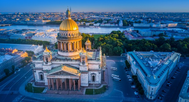 Россия. Санкт-Петербург. Исаакиевский собор. St. Isaac's Cathedral aerial view. Saint Petersburg. Russia. Фото GrinPhoto - Depositphotos