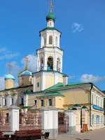 Россия. Татарстан. Казань. Никольский собор. Church of the Intercession and Belfry of the St. Nicholas Cathedral in Kazan, Tatarstan. Фото markovskiy-Depositphotos