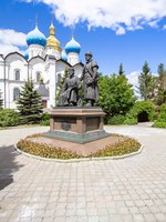 Татарстан. Памятник зодчим Казанского Кремля. The Monument To Architects Of Kazan Kremlin and Annunciation Cathedral in Kazan Kremlin. Фото CAHKT-Depo