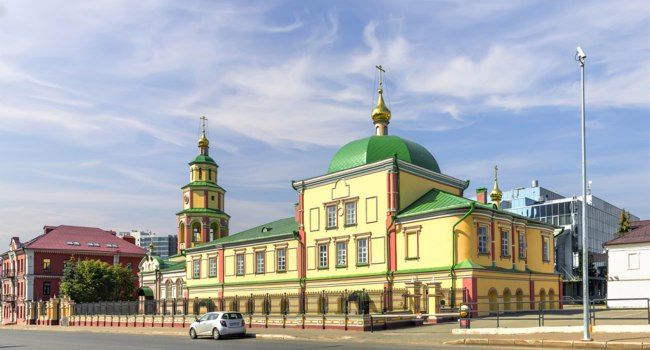 Россия. Татарстан. Казань. Храм Сошествия Святого Духа. The Church of the Descent of the Holy Spirit. Kazan. Tatarstan. Russia. Фото Belikart - Depositphotos