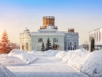 Россия. Татарстан. Казань. Kazan University Observatory on a winter morning. Фото yulenochekk - Depositphotos