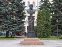 Nikolay Lobachevsky Monument in Kazan, Russia. Bust of Russian mathematician and geometer by sculptor Maria Dillon 1896. Фото markovskiy - Depositphotos