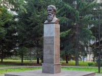 Monument to the Russian neurologist and psychologist Vladimir Bekhterev. Sculptor Makhmut Gasimov and architect German Bakulin. Фото markovskiy-Deposit
