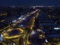 Россия. Татарстан. Казань. Kazan at night from a height. Фото Denis_Aleksandrov - Depositphotos