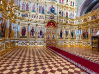 Татарстан. Свияжский Иоанно-Предтеченский монастырь. Interior of the Cathedral of the Icon of the Mother of God Joy of All Who Sorrow on Sviyazhsk. Фото blinow6