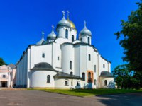 Россия. Великий Новгород. Софийский собор. Cathedral of St Sophia at the Kremlin of Veliky Novgorod of Russia. Фото erix2005 - Depositphotos