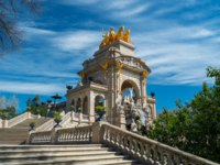 Испания. Каталония. Барселона. Stair of fountain in a Parc de la Ciutadella, Barcelona. Фото Andrejs Pidjass Depositphotos
