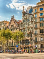 Испания. Каталония. Барселона. Facade of Casa Batllo and Casa Amatller, Barcelona, Catalonia, Spain. Фото marcorubino - Depositphotos