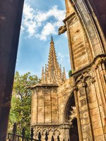 Испания. Каталония. Барселона. Scenic view of the Barcelona Cathedral, Catalonia, Spain. Фото marcorubino - Depositphotos