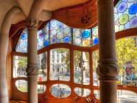 Испания. Барселона. Дом Батльо (арх. А.Гауди). Casa Batllo by Antonio Gaudi. Фото Wallace Weeks - Depositphotos