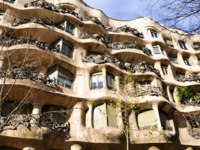 Испания. Casa Mila in Barcelona, Spain. A architecture of Gaudi. Фото Hirotaka Ihara  - Depositphotos