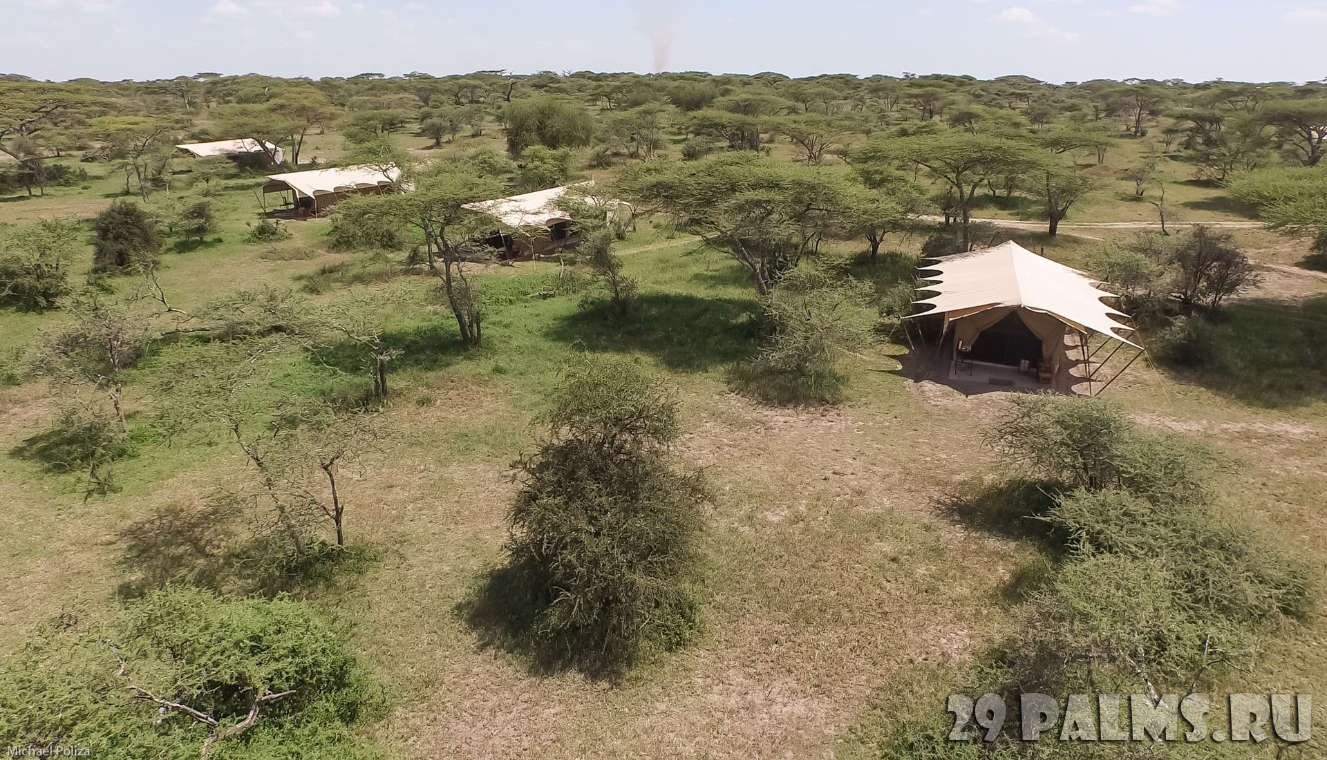 Клуб путешествий Павла Аксенова. Танзания. &Beyond Serengeti Under Canvas. Aerial View