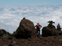 Танзания. Восхождение на гору Килиманджаро. On the trail to Kilimanjaro looking out over the clouds. Фото mountaintreks - Depositphotos