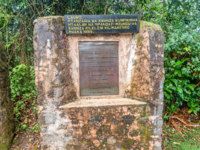 Plaques that commemorates the first guides and porters who assisted the first climbers to Mount Kilimanjaro. Фото dvrcan - Depositphotos