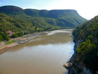 Эфиопия. Река Нил. Blue Nile, in the Canyon. Landscape of mountains around. Africa, Ethiopia. Фото Svetlana485 - Depositphotos