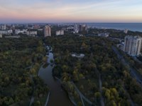 Украина. Одесса. Парк Победы. Aerial shot of Victory Park in Odessa at sunsrise. Фото Jasonrow - Depositphotos