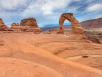 США. Amazing erosion of rock, Delicate Arch at Arches National Park Utah. Фото srongkrod481 - Depositphotos