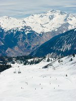 View at Courchevel ski resort, French Alps. Фото dnaumoid dnaumoid Depositphotos