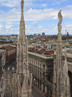 Италия. Милан. Panoramic view of Milan, Italy. Фото Andrey Anisimov Depositphotos