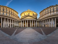 Италия. Милан. Panorama of San Carlo Square and Church of Saint Charles Borromeo, Milan, Italy. Фото anshar - Depositphotos