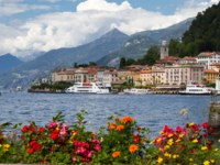 Италия. Озеро Комо. Белладжио. The small town of Belaggio at lake Como in Italy. Фото Harald Biebel - Depositphotos