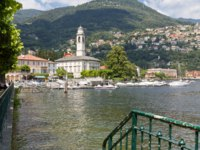 Италия. Озеро Комо. The village of Cernobbio at Lake Como, Italy. Фото Harald Biebel - Depositphotos