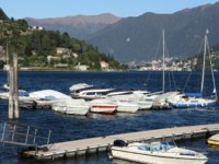 Италия. Озеро Комо. Italy, Cernobbio. The harbour. Фото Daniele Cucchi - Depositphotos
