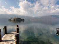Италия. Озеро Маджоре. Lake Orta, a small northern Italian lake next to mighty Lago Maggiore. Фото Frank Bach - Depositphotos