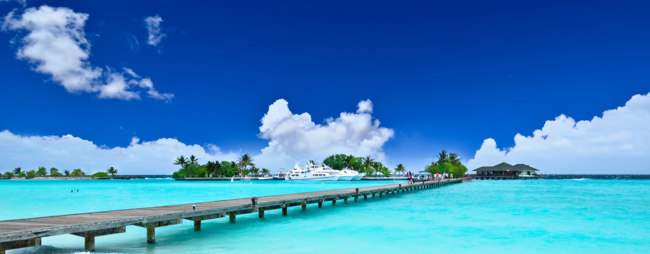 Мальдивы. Maldives. Path to beautiful island. Фото Suranga Weeratunga - Depositphotos