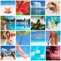 Мальдивы. Resort collage. Фото haveseen - Depositphotos