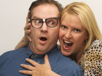 Gorgeous Woman and Dorky Guy. Фото Andy Dean - Depositphotos