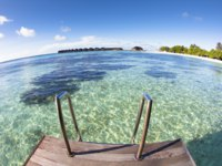 Мальдивы. Water villa and ocean view. maldives. Фото tomwang - Depositphotos