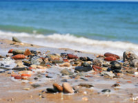 Испания. Коста Дорада. Sea stones Costa Dorada beach. Фото fantazista - Depositphotos